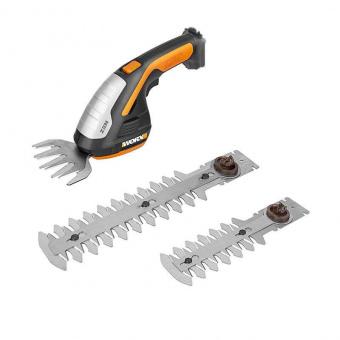 WORX 20V Ножницы для стрижки травы и кустарников WG801E, комплект с АКБ 2 Ah и ЗУ, кейс