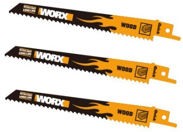 Лезвия по дереву для сабельной пилы WORX WA8010.3 150 мм