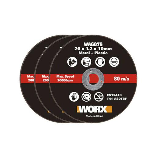 Отрезной диск по металлу WORX WA6076.3 3 шт